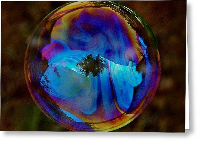 Crystal Bubble Greeting Card by Marilynne Bull