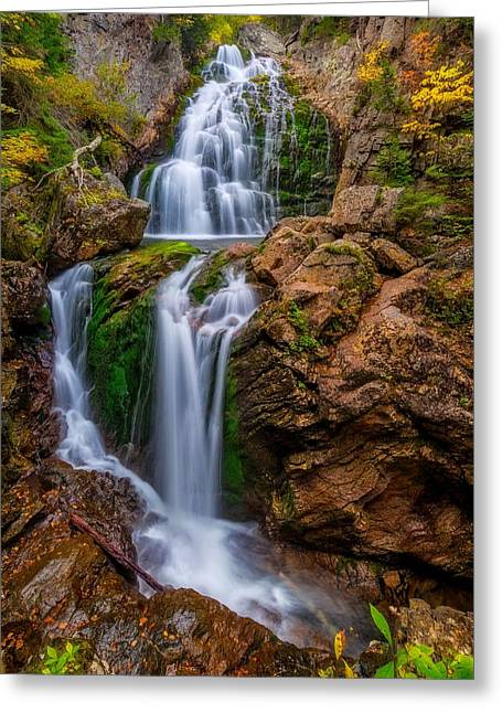 Crystal Cascade Autumn 2016 Greeting Card by Bill Wakeley