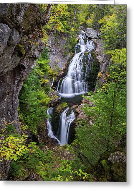 Crystal Cascade Autumn Greeting Card by Bill Wakeley
