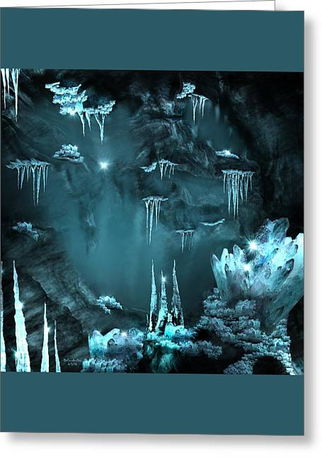 Crystal Cave Mystery Greeting Card