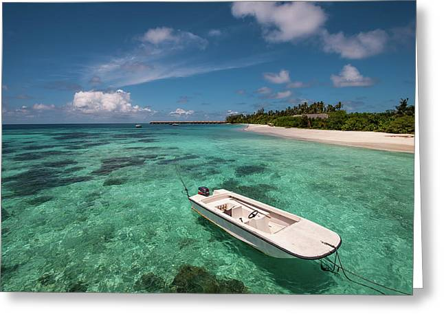 Crystal Clarity. Maldives Greeting Card by Jenny Rainbow