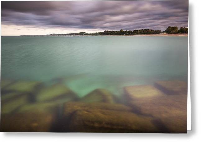 Crystal Clear Lake Michigan Waters Greeting Card by Adam Romanowicz
