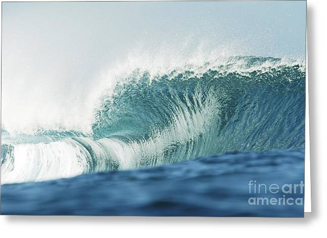 Crystal Clear Wave Greeting Card