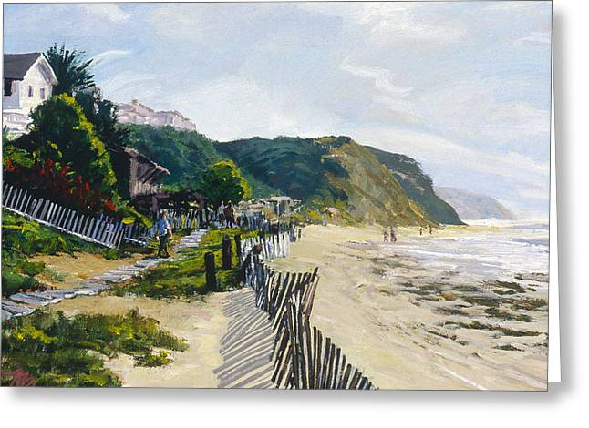 Crystal Cove Afternoon Greeting Card by Mark Lunde