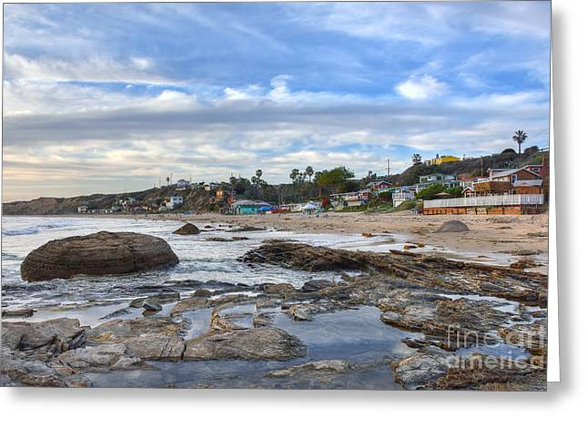 Crystal Cove Beach Cottages Greeting Card