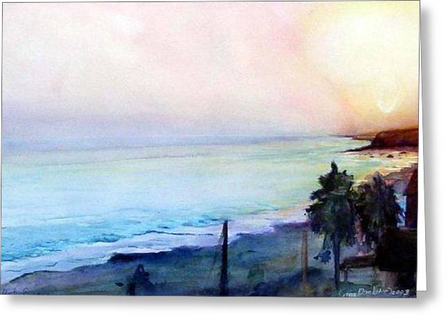 Crystal Cove Greeting Card by Kathy Dueker