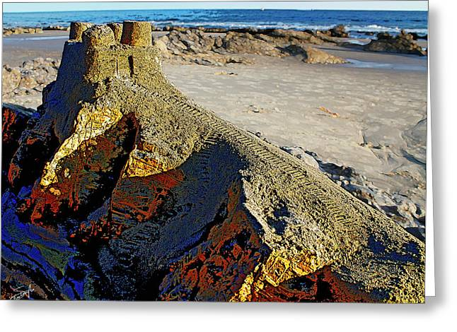 Sand Castles Greeting Cards - Crystal Cove Palace Greeting Card by Crista Smyth