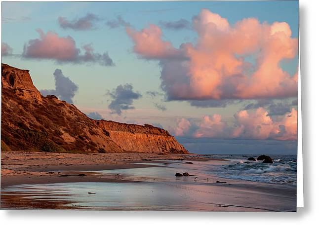 Crystal Cove Reflections Greeting Card by Cliff Wassmann