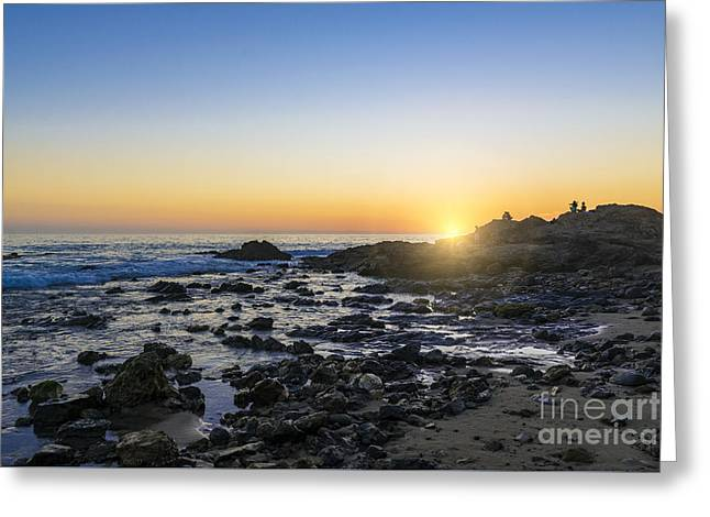 Greeting Card featuring the photograph Crystal Cove Sunset by Anthony Baatz