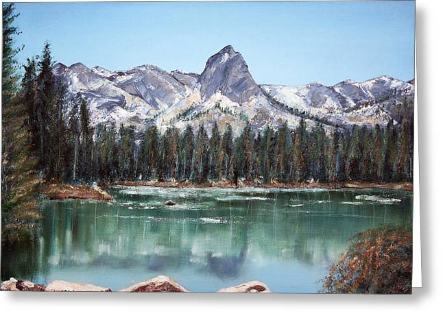 Crystal Crag From Twin Lakes Mammoth Ca Greeting Card by Arline Wagner