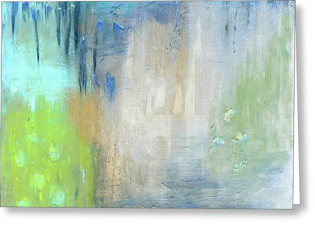 Greeting Card featuring the painting Crystal Deep  by Michal Mitak Mahgerefteh