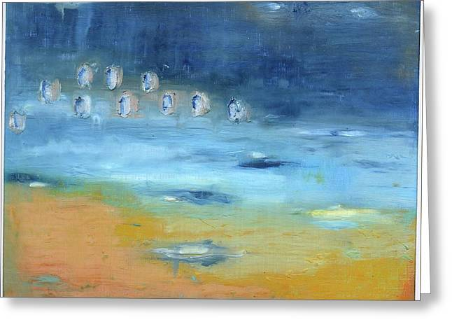 Greeting Card featuring the painting Crystal Deep Waters by Michal Mitak Mahgerefteh