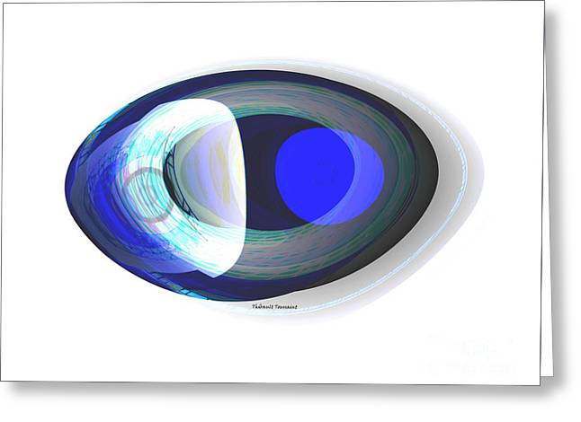 Crystal Eye Greeting Card by Thibault Toussaint