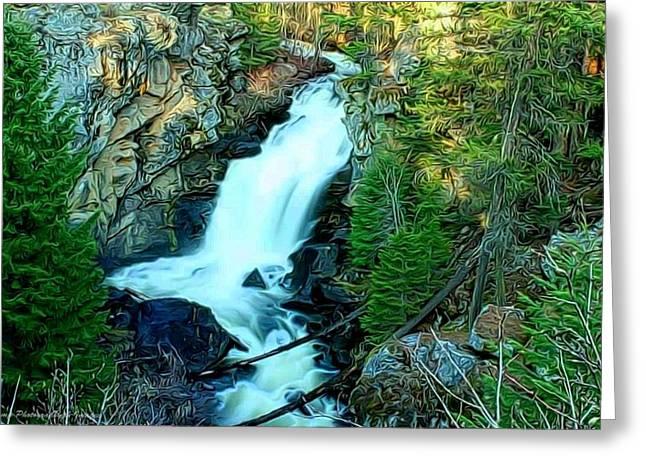 Crystal Falls , Washington Greeting Card