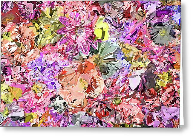 Soft Abstract Flower Bed  Greeting Card by Lawrence O'Toole