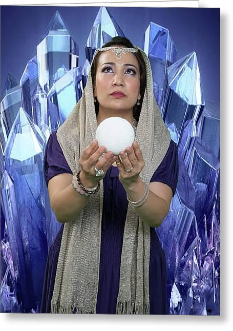 Crystal Goddess Greeting Card