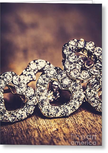 Crystal Heart Earrings Greeting Card