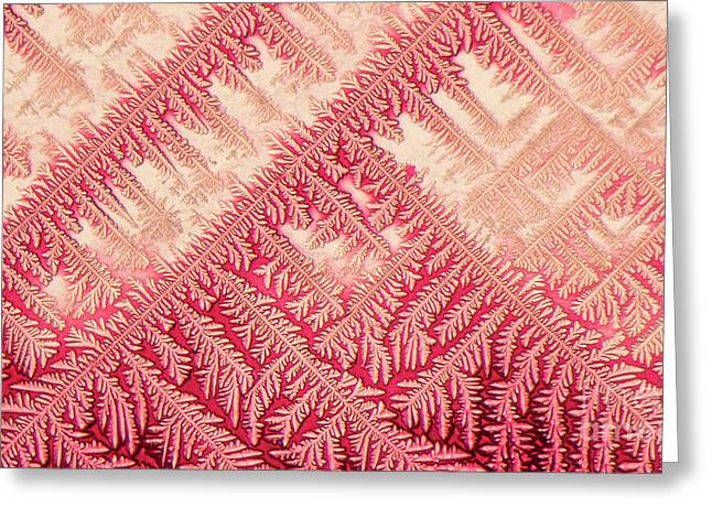 Crystal In Red Pigment Greeting Card