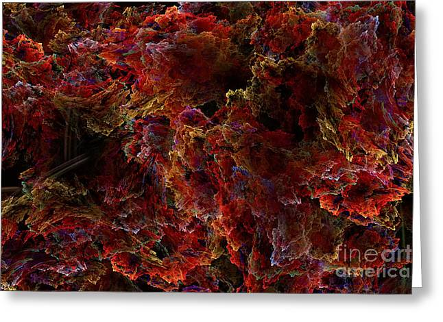 Greeting Card featuring the digital art Crystal Inspiration Number Two Close Up by Olga Hamilton
