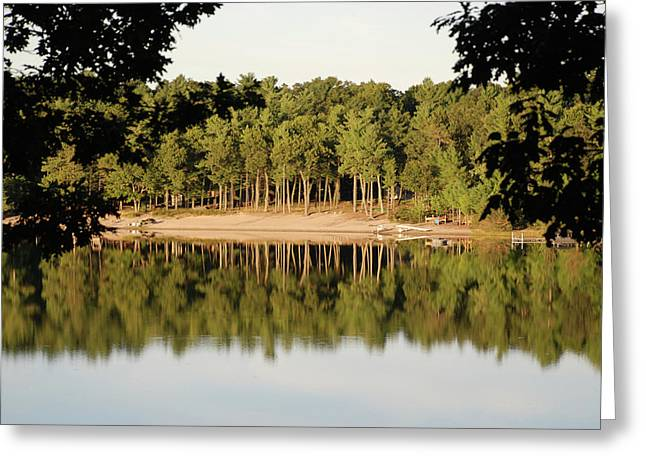 Greeting Card featuring the photograph Crystal Lake In Whitehall Mi by Ferrel Cordle