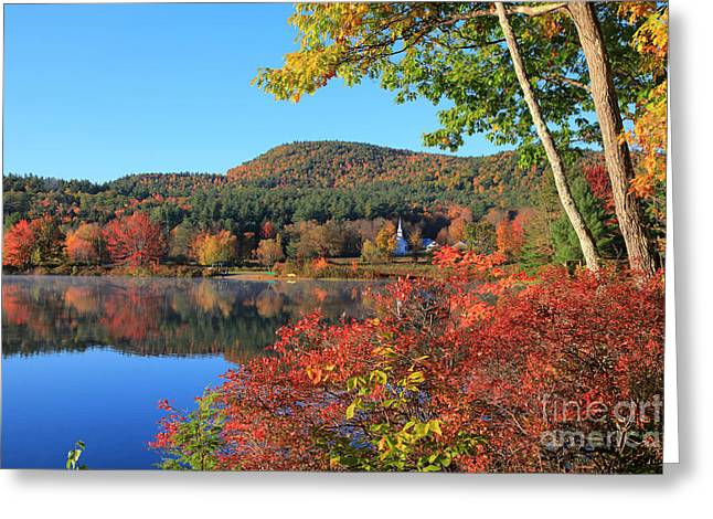 Crystal Lake, New Hampshire Greeting Card by Larry Landolfi