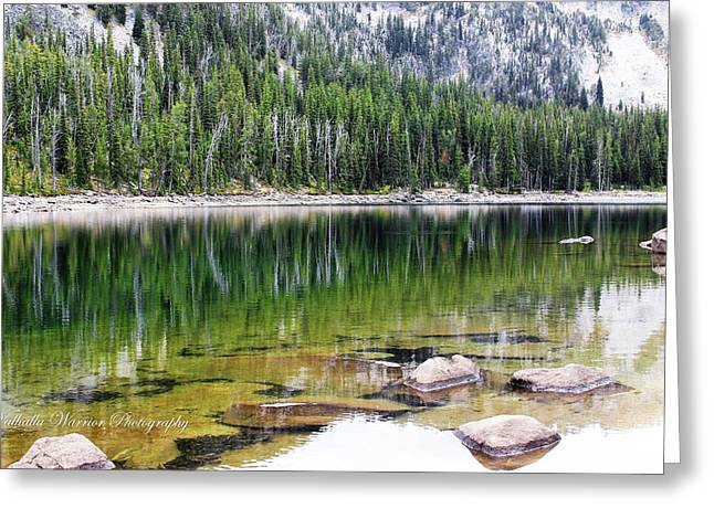 Crystal Lake Greeting Card by Valhalla Warrior Photography