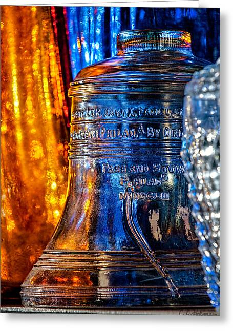 Flea Market Greeting Cards - Crystal Liberty Bell Greeting Card by Christopher Holmes