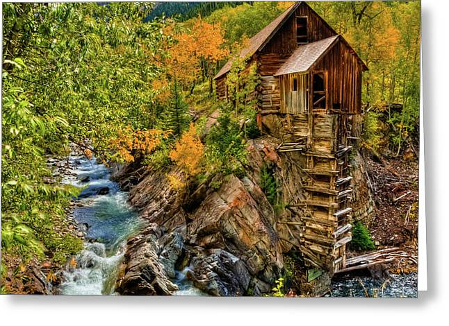 Crystal Mill Fall Colors Greeting Card
