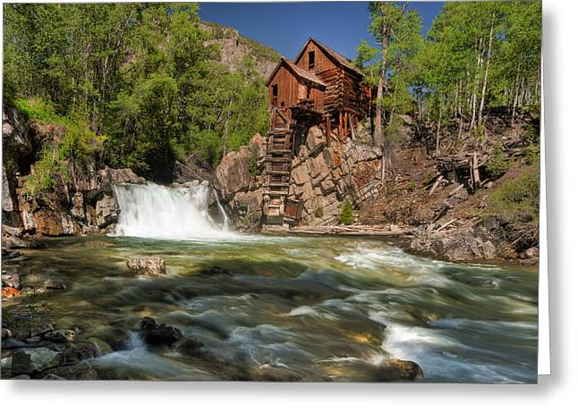 Marble Colorado Greeting Cards - Crystal Mill II Greeting Card by Ryan Heffron