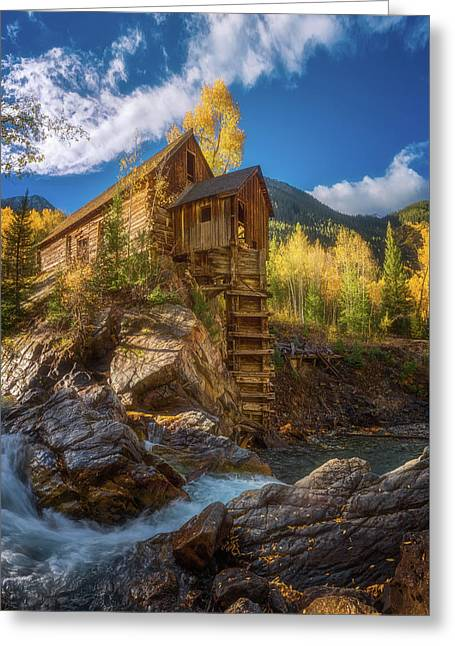 Crystal Mill Morning Greeting Card by Darren White