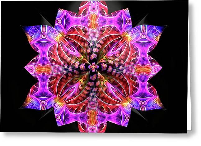 Crystal Petals Greeting Card