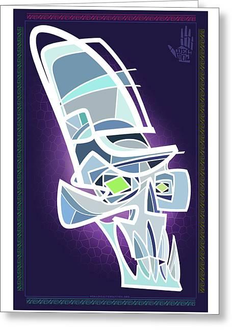 Crystal Skull Greeting Card by Nelson Dedos Garcia