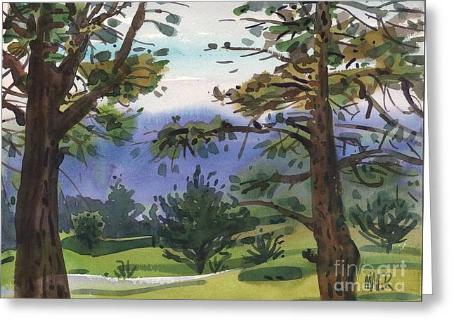 Crystal Springs Fairway Greeting Card by Donald Maier