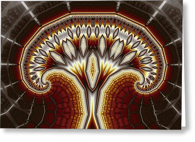 Crystal Tree No. 2 Greeting Card by Mark Eggleston