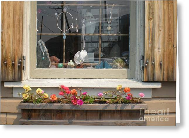 Greeting Card featuring the photograph Crystal Window by Kim Prowse