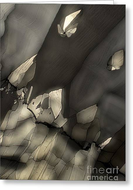 Greeting Card featuring the photograph Falling Crystals by Olimpia - Hinamatsuri Barbu