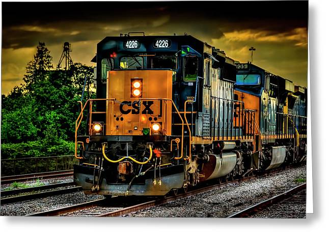 Csx 4226 Greeting Card by Marvin Spates