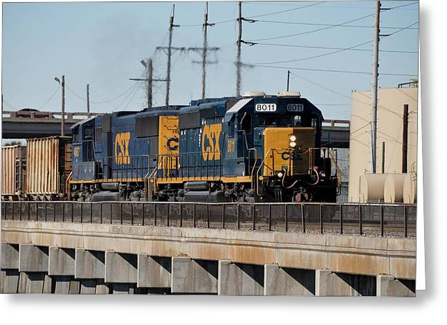 Greeting Card featuring the photograph Csx 8011 Bone Valley Bound by John Black