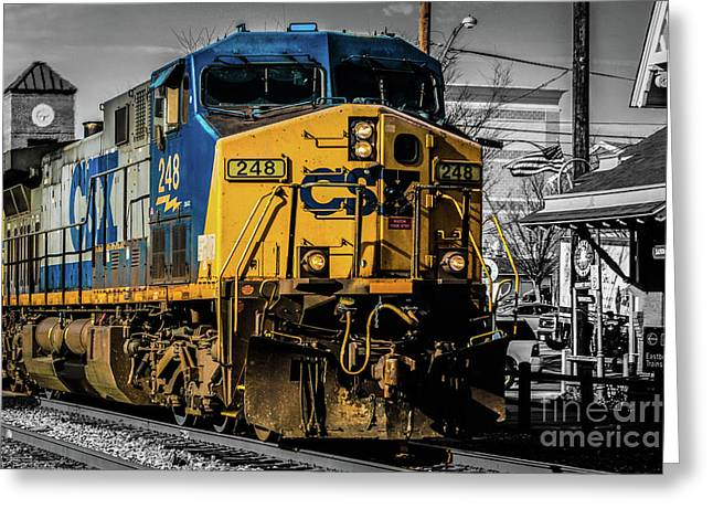 Csx Engine Gaithersburg Md Greeting Card