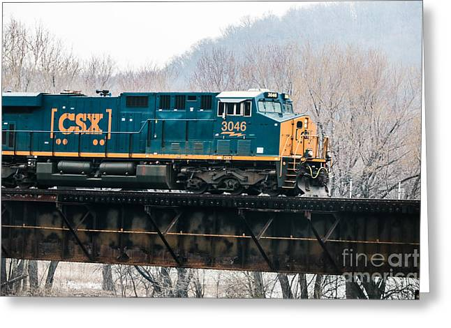Csx Engine Greeting Card