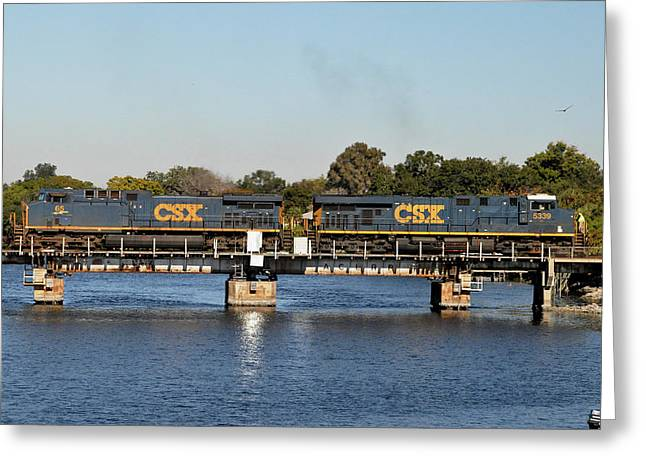 Greeting Card featuring the photograph Csx On Mills Bayou by John Black