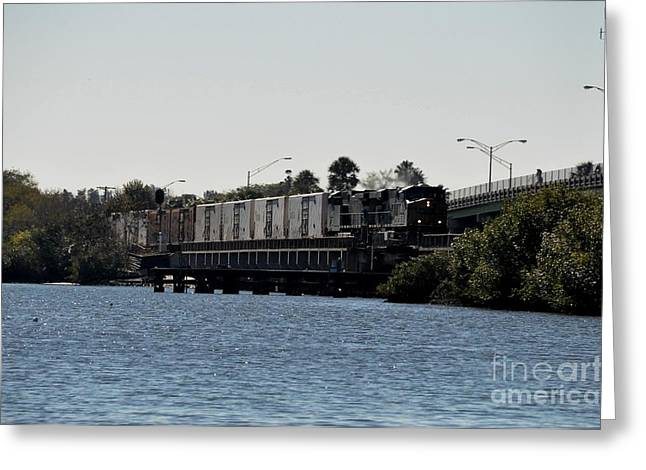 Greeting Card featuring the photograph Csx Over The Alafia by John Black