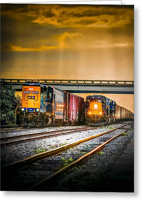Csx Two For One Greeting Card by Marvin Spates