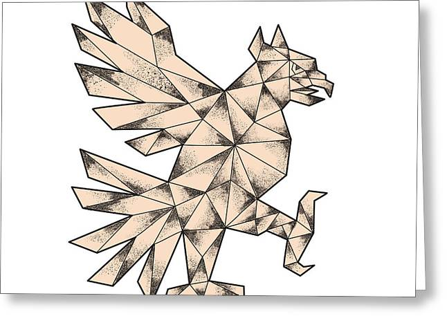 Cuauhtli Glifo Eagle Tattoo Greeting Card by Aloysius Patrimonio