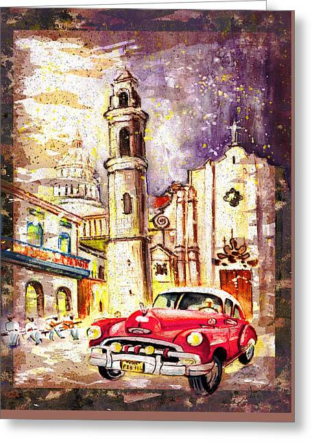 Cuba Authentic Madness Greeting Card by Miki De Goodaboom