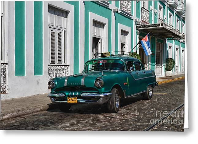 Cuba Cars II Greeting Card by Juergen Klust