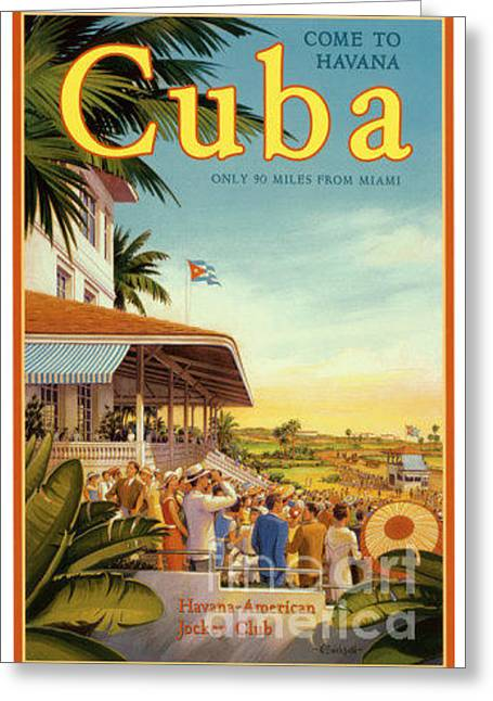 Cuba-come To Havana Greeting Card