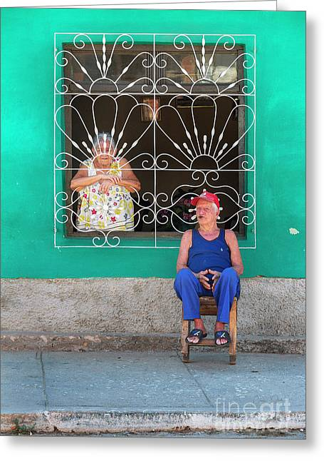 Greeting Card featuring the photograph Cuba Husband And Wife by Craig J Satterlee