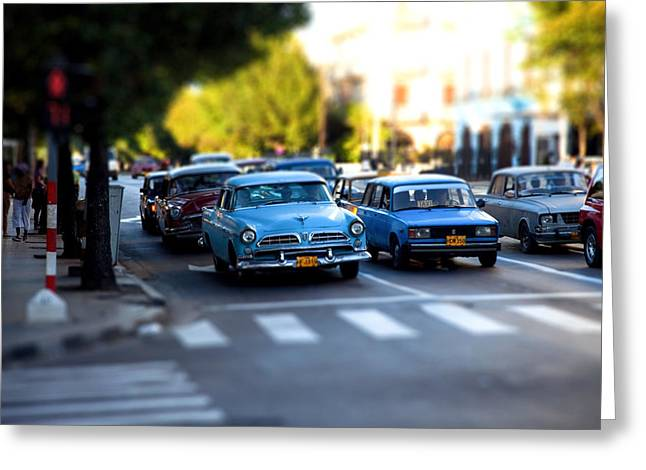 Cuba Street Scene Greeting Card