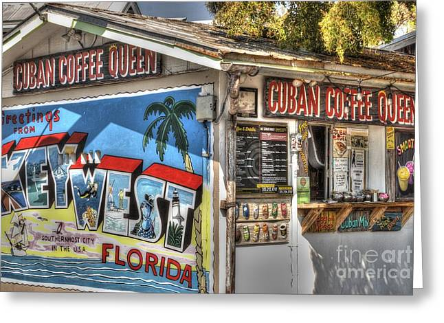 Cuban Coffee Queen Greeting Card